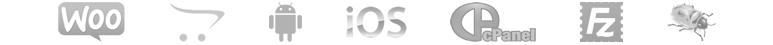 woocommerce, opencart, android, iOS, cpanel, filezilla, filebug