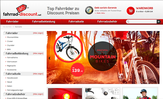 UI Design for ECommerce website in Germany